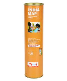 India Map with Reusable Stickers Activity Kit
