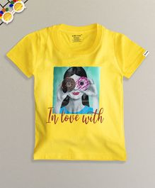 Ardan Lucy Half Sleeves In Love With Donuts Tee - Yellow
