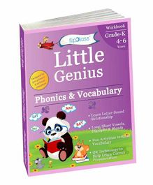 FlipClass Little Genius Phonics & Vocabulary 2 Kindergarten Workbook - English