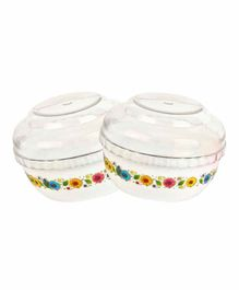 Naughty Kidz Premium Powder Puff Containers Set of 2 - White