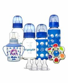 Naughty Kidz Premium Feeding Combo Gift Set of 6 - Blue