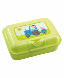 Haba Lunch box Tractor Print - Green