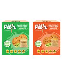 Fil's Bajra & Multi Millet Choco Chips Cookies Pack of 2 - 100 gm Each
