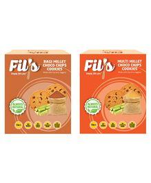 Fil's Ragi Millet & Multi Millet Choco Chips Cookies Pack - 100 gm Each