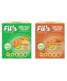 Fil's Bajra Millet & Ragi Millet Choco Chips Cookies Pack - 100 gm Each