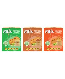 Fil's Bajra Ragi & Multi Millet Choco Chips Cookies Packs - 100 gm Each