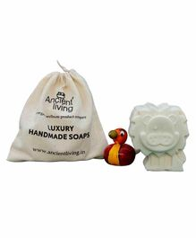 Ancient Living Handmade Designer Lion Kids Soap With Orange Oil Cream - 75 Grams