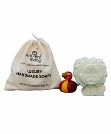 Ancient Living Handmade Designer Lion Kids Soap With Neroli Oil Cream - 75 Grams