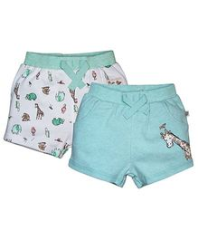 3f31104068d FS Mini Klub Printed Shorts Set of 2 - Green And White