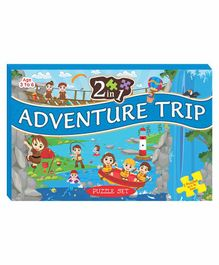 Art Factory EVA Foam Adventure Trip Jigsaw Puzzle Set of 2 - 136 Pieces