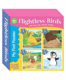Art Factory Flightless Birds Jigsaw Puzzle Set of 4 - 15 Pieces