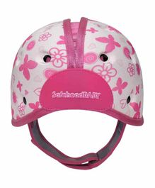 SafeheadBABY Soft Baby Helmet Butterfly Print - Pink