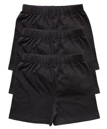 Kiddopanti Pack Of 3 Cycling Shorts - Black
