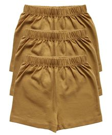 Kiddopanti Pack Of 3 Cycling Shorts - Brown