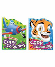 Sterling Copy Colouring Transport & Animals 2 in 1 Pack