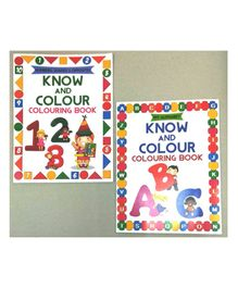 Sterling Know and Colour  ABC & 123 Colouring Book Pack of 2 - English