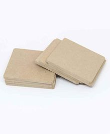 IVEI DIY Coasters Set of 100 Coasters - Cream