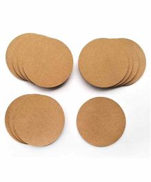 IVEI DIY Circle Coasters Set of 12 - Brown
