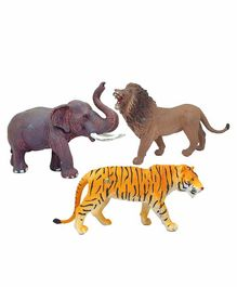 FunBlast Wild Animals Toy Pack of 3 - Multicolor