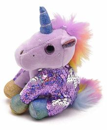 FunBlast Sequin Unicorn Plush Keychain - Purple