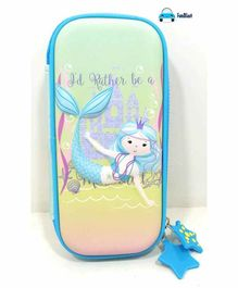 FunBlast Rectangular Pencil Case Mermaid Print - (Color & Print May Vary)