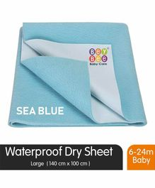 BeyBee Waterproof Baby Bed Protector Dry Sheet Large - Sky Blue