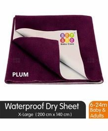 BeyBee Quick Dry Waterproof Extra Large Size Bed Protector Sheet - Purple