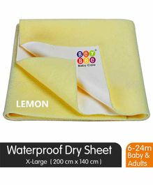 BeyBee Quick Dry Waterproof Extra Large Size Bed Protector Sheet - Light Yellow