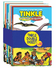 Tinkle Double Digest Comic Book Pack of 10 - English