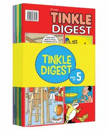 Tinkle Single Digest Comic Book Pack of 5 - English