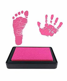 Mold Your Memories Reusable Ink Pad for Hand & Foot Impression - Pink