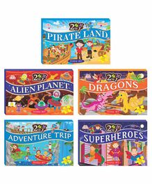 Art Factory EVA Foam Jigsaw Combo of 5 with 2 Puzzles Each - 680 Pieces