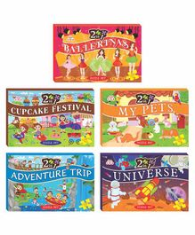 Art Factory EVA Foam Jigsaw Combo of 5 with 2 Puzzles Each - 760 Pieces