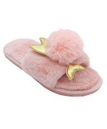 FEETWELL SHOES Pom Pom Fish Flip Flops - Pink