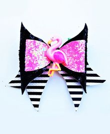 FOLLOW THE NEEDLE Flamingo Hairbow - Multicolour
