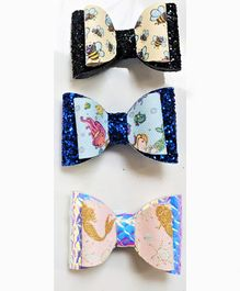 FOLLOW THE NEEDLE Honey Bee Printed Set Of 3 - Multicolour