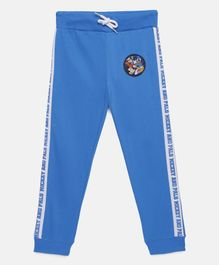 LOOCUST Micky Mouse Printed Full Length Joggers - Blue