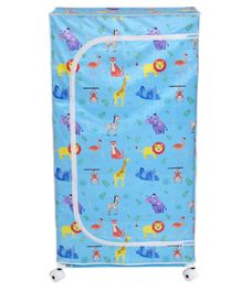 Playhood Animal Print 5 Shelve Wardrobe - Blue