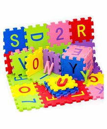 Fiddlerz Alphabetic plus Numbers Interlocking Puzzle - 36 Pieces