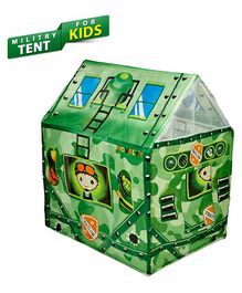 Planet of Toys Military Theme Play Tent - Green
