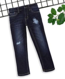 Sodacan Distressed Full Length Denim Jeans - Blue