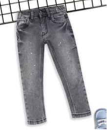Sodacan Spray & Splash Print Full Length Denim Jeans - Black