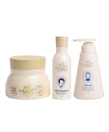 MAATE Baby Body Ritual Combo With Body Massage Oil  250 ml Body Wash 150 ml & Body Butter 150 g