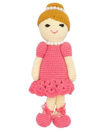 Happy Threads Crochet Doll Pink - Height 19.5 cm