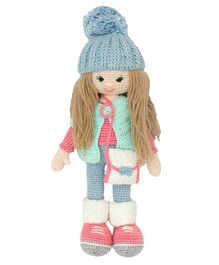 Happy Threads Crochet Molly Doll Pink and Blue - Height 30.48 cm