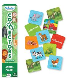 Skillmatics Connector Animal Planet Multicolor - 54 Game Tiles