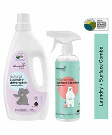 Windmill Baby Natural Laundry Detergent With Multi Surface Cleaner Combo - 900 ml, 450 ml