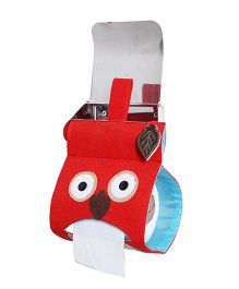 My Gift Booth Tissue Roll Dispenser Owl Design - Red