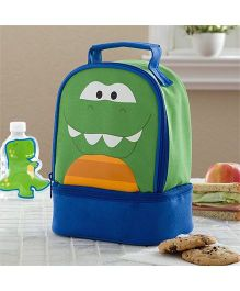 My Gift Booth Crocodile Print Insulated Lunch Bag - Green And Blue
