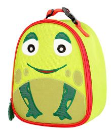 My Gift Booth Frog Print Insulated Lunch Bag - Green